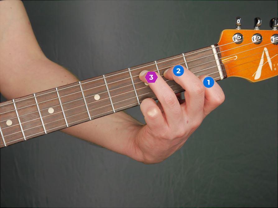 accord do guitare C
