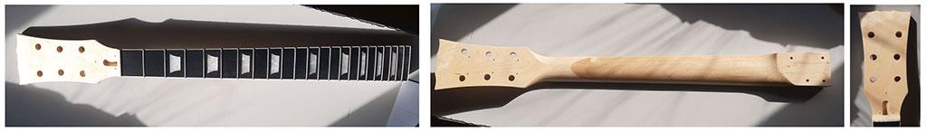 manche les paul guitare en kit harley benton