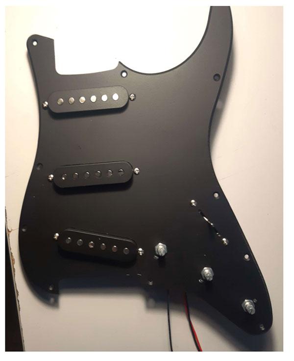pickguard peint stratocaster guitare en kit