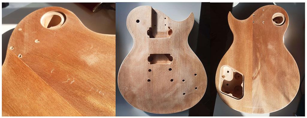 finitions corps guitare les paul montage en kit