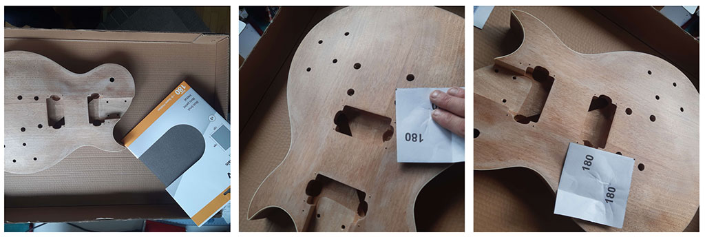 ponçage corps guitare en kit harley benton