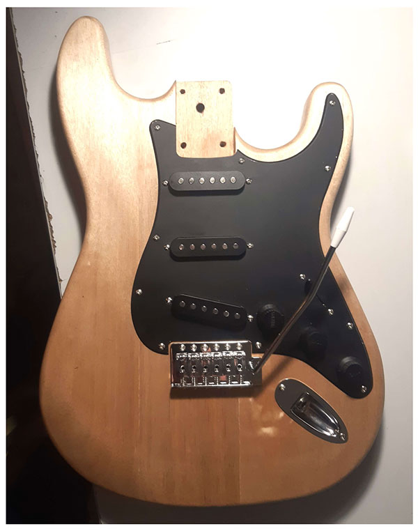 electronique stratocaster montage guitare en kit -  step 3