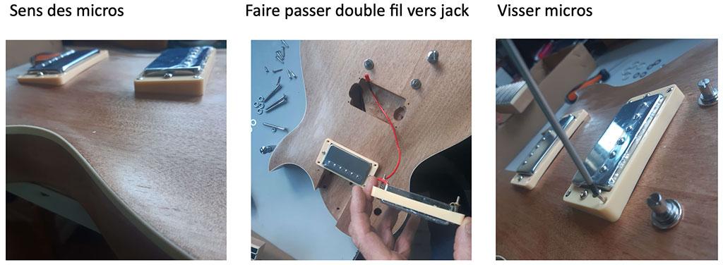 électronique les paul montage guitare en kit step 1
