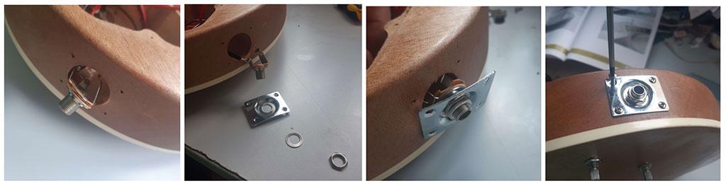 électronique les paul guitare en kit fiche jack step 5