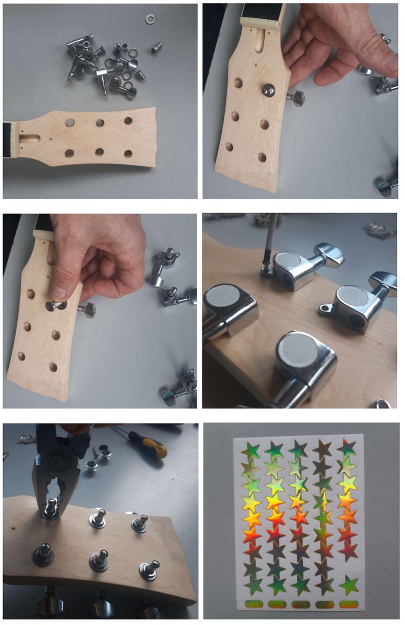montage du manche guitare en kit harley benton myguitare