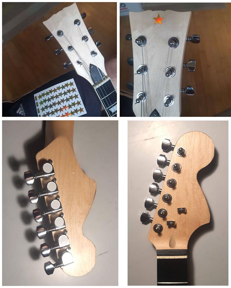 manches montés guitare en kit strato les paul