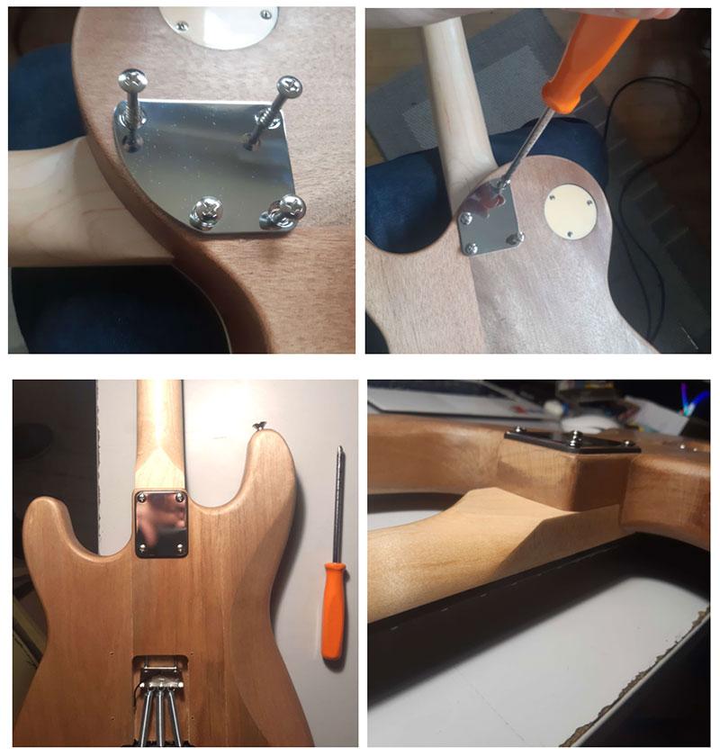 visser manche guitare en kit harley benton myguitare