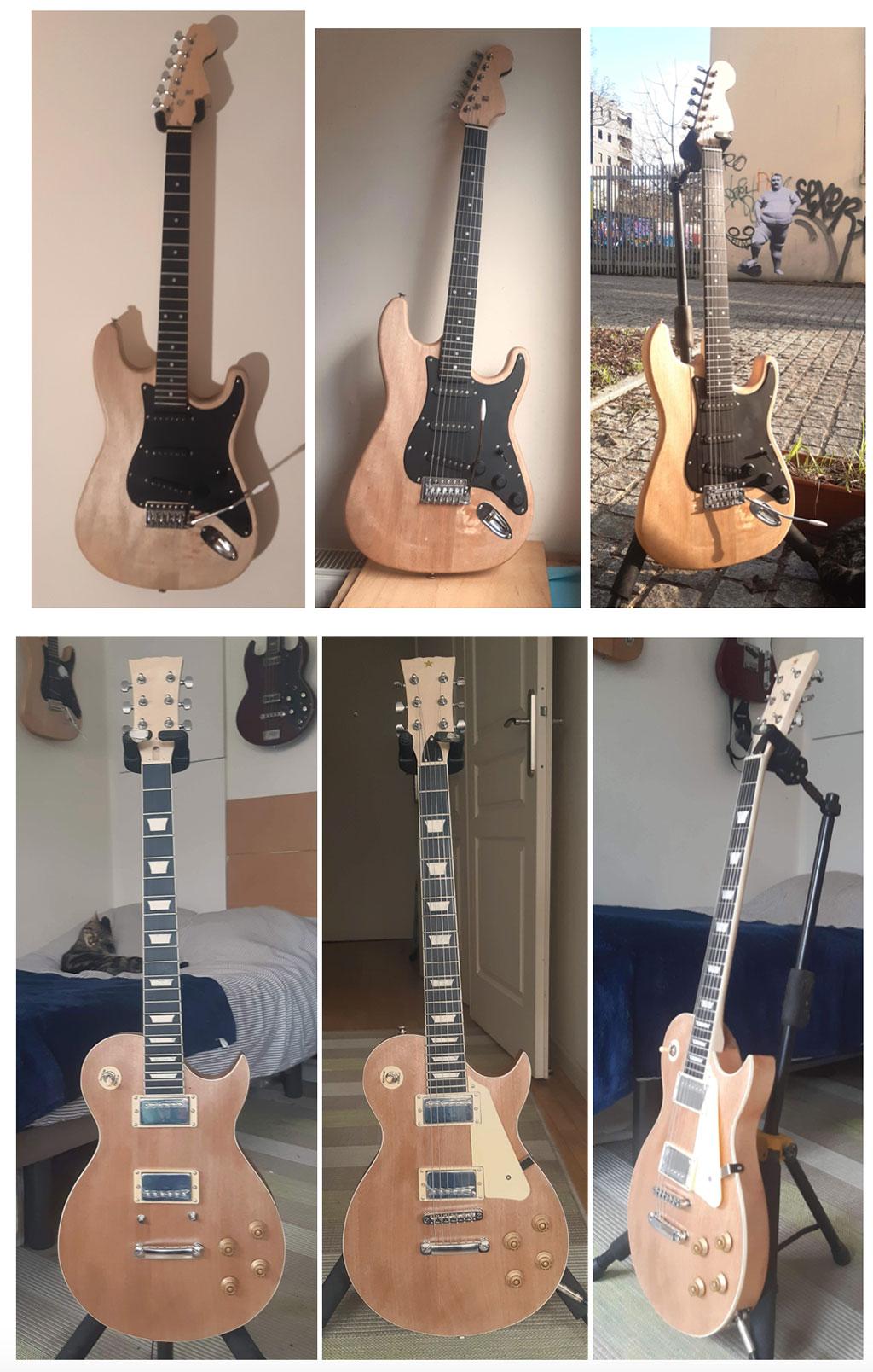 guitares montées stratocaster les paul harley benton guitare en kit