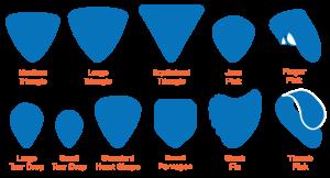 formes de mediators plectre