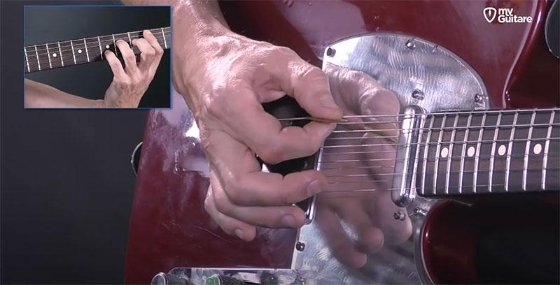 appui main rythmique guitare jouer arpeges mediator
