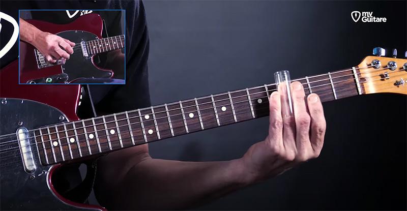jouer slide bottleneck guitare