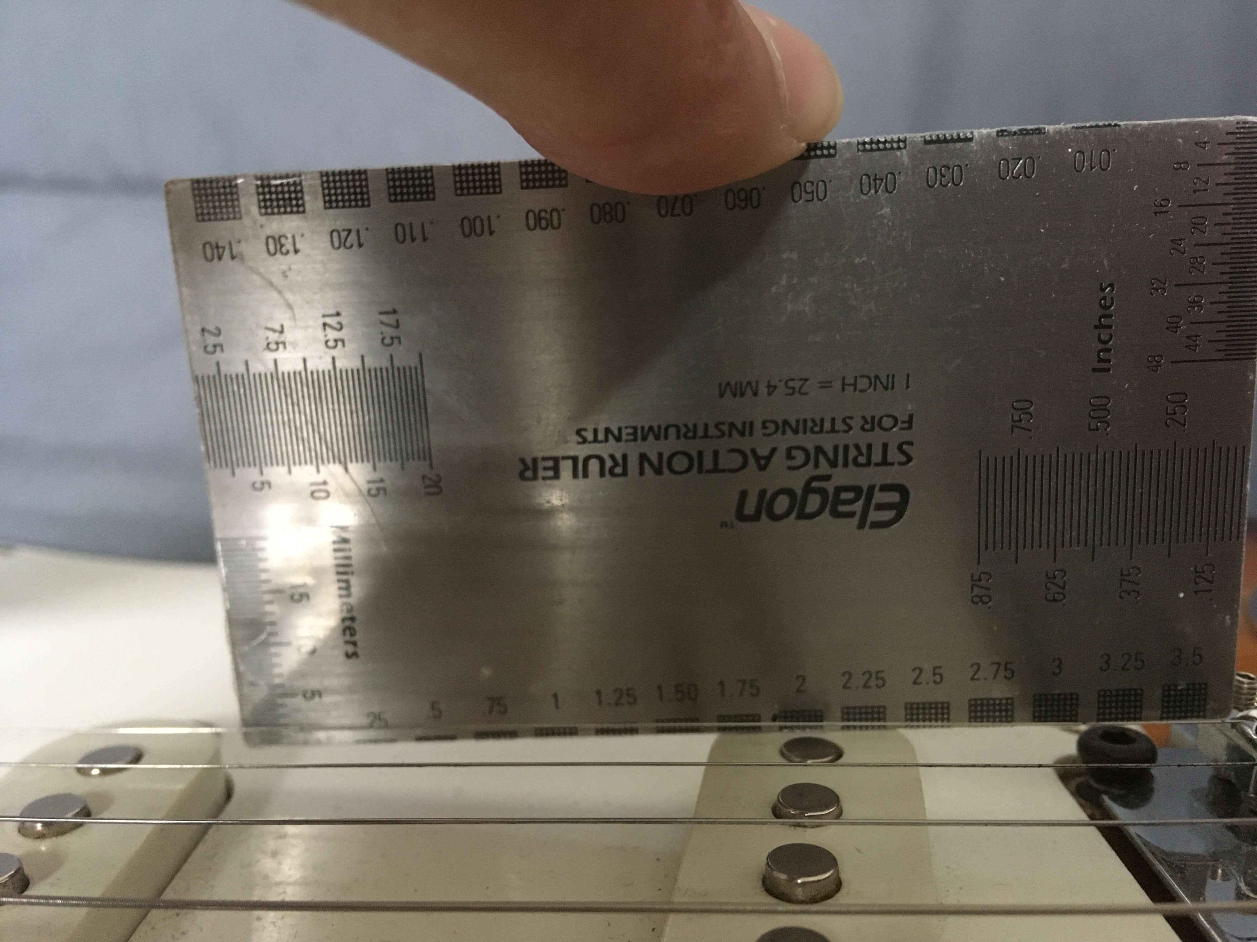 contrôle hauteur micro chevalet