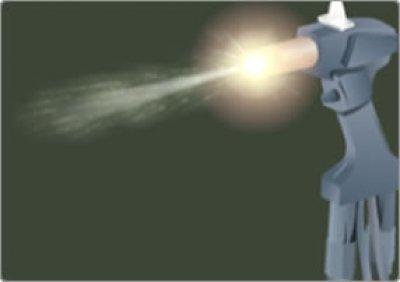 Thermal Spray Gun Spraying
