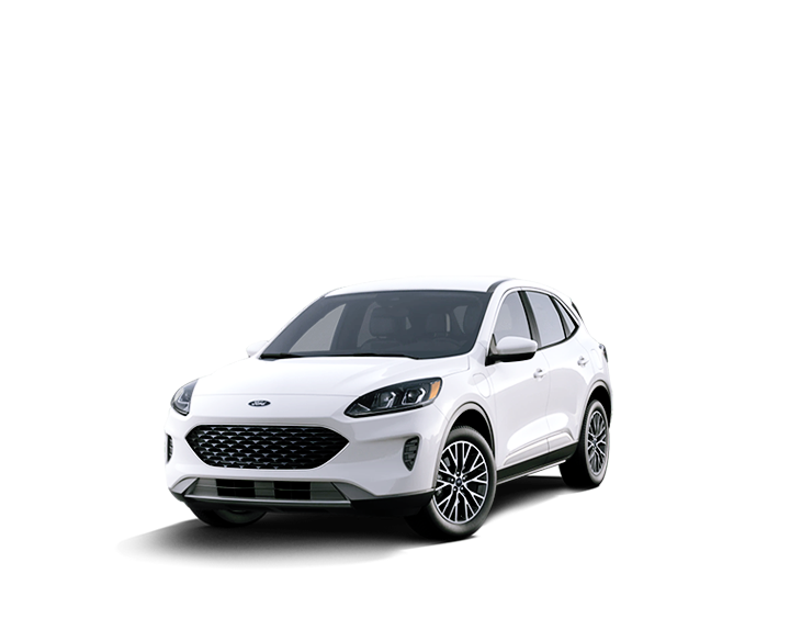 Hybrid white Ford car