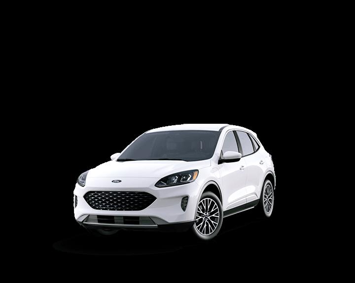 Fuel efficient hybrid white car