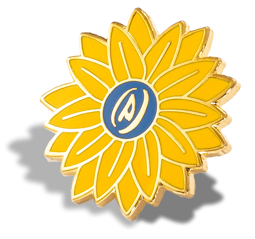 Yellow Flower Hard Enamel Pin