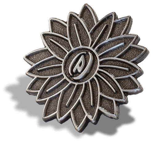 Flower Antique Silver Pin PinProsPlus
