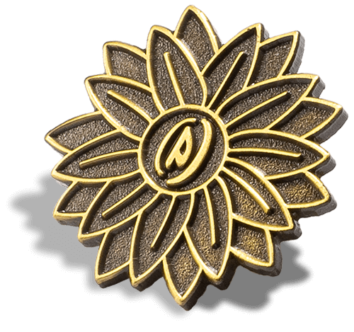 Antique Gold Custom Pin Metal Finish