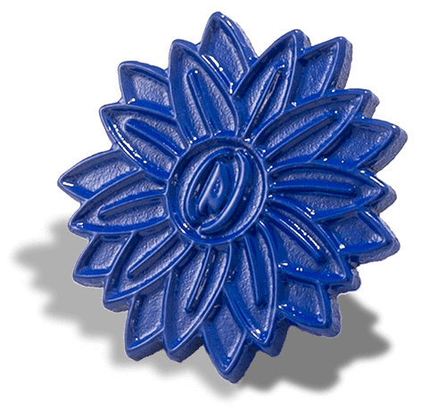Blue Die Struck Pin