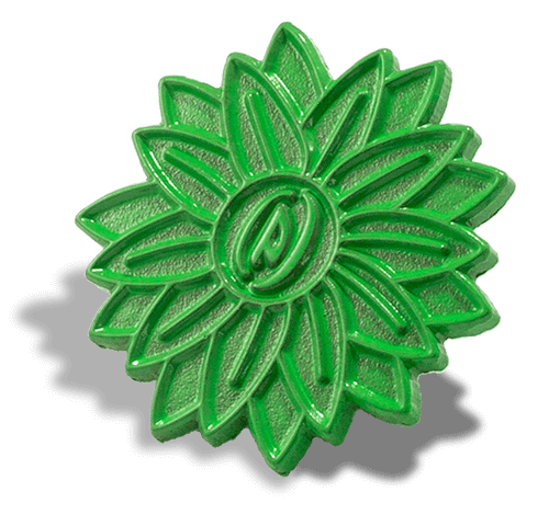 Green Dye Custom Pin Metal Finish