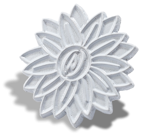 White Die Struck Pin