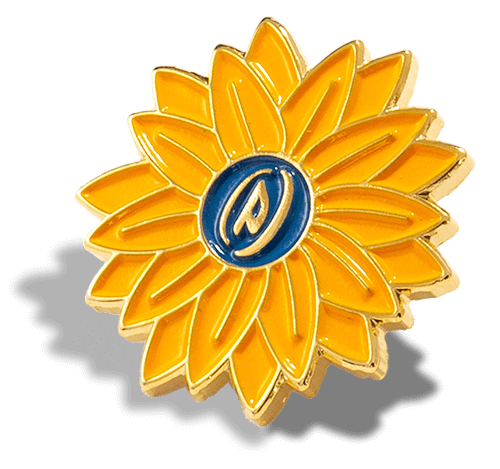 Yellow Flower Soft Enamel Pin PinProsPlus