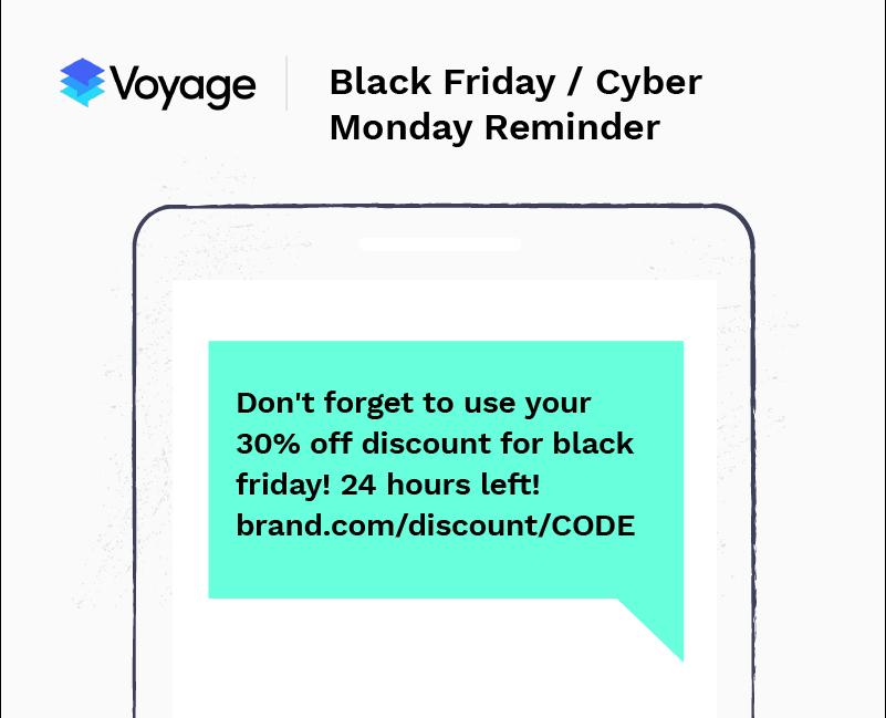 SMS marketing example - black friday
