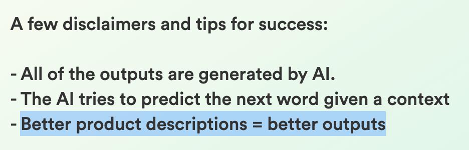 How AI copywriting tools work