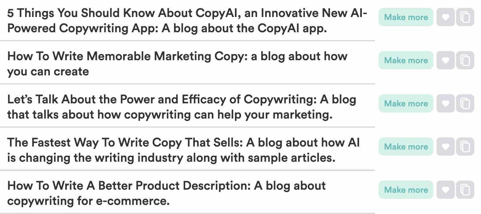 AI copywriting headlines