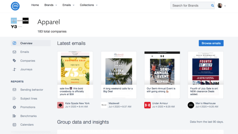 MailCharts email templates