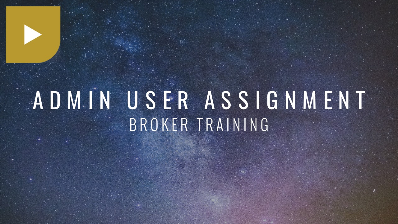 Admin User Assignment