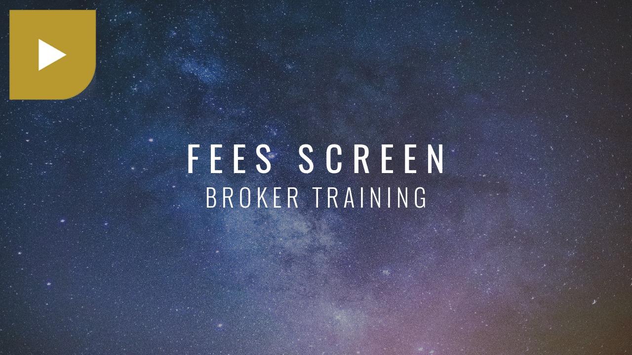 Fees Screen