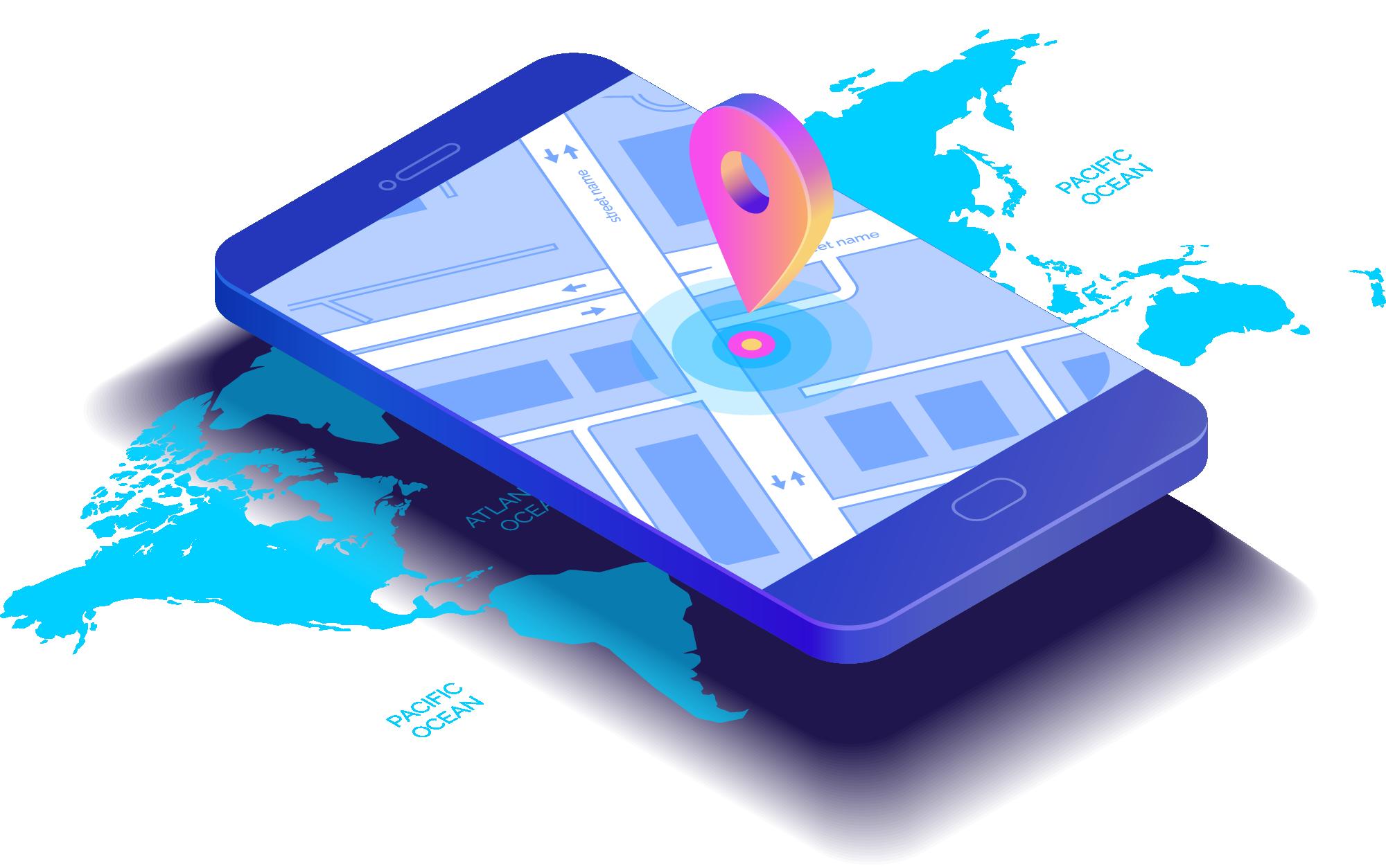 Geo location DNS map