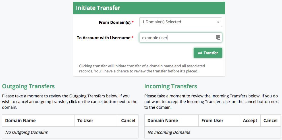 initiate transfer