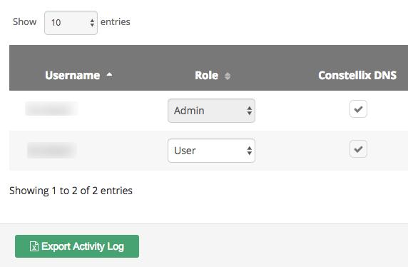 export activity log