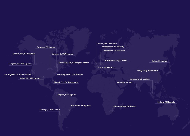DNS Servers Map