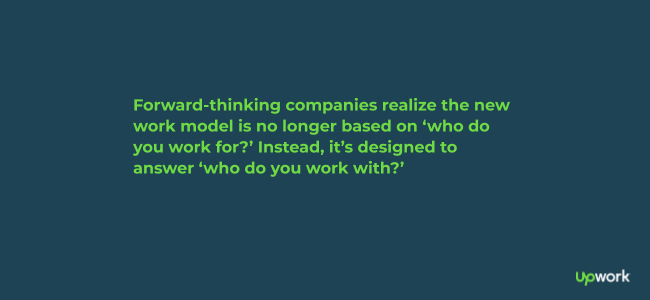 Quote about forward-thinking companies