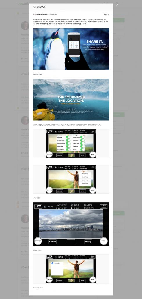 Example: Portfolio item of a freelancer in Web & Mobile Dev (storytelling) (Fred T., Seattle/WA)