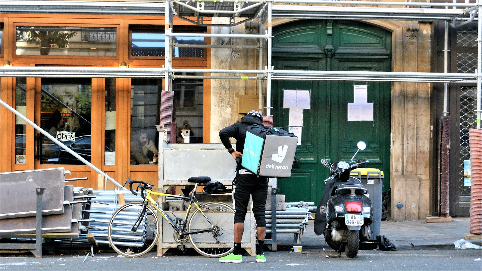Image of bicycle delivery worker