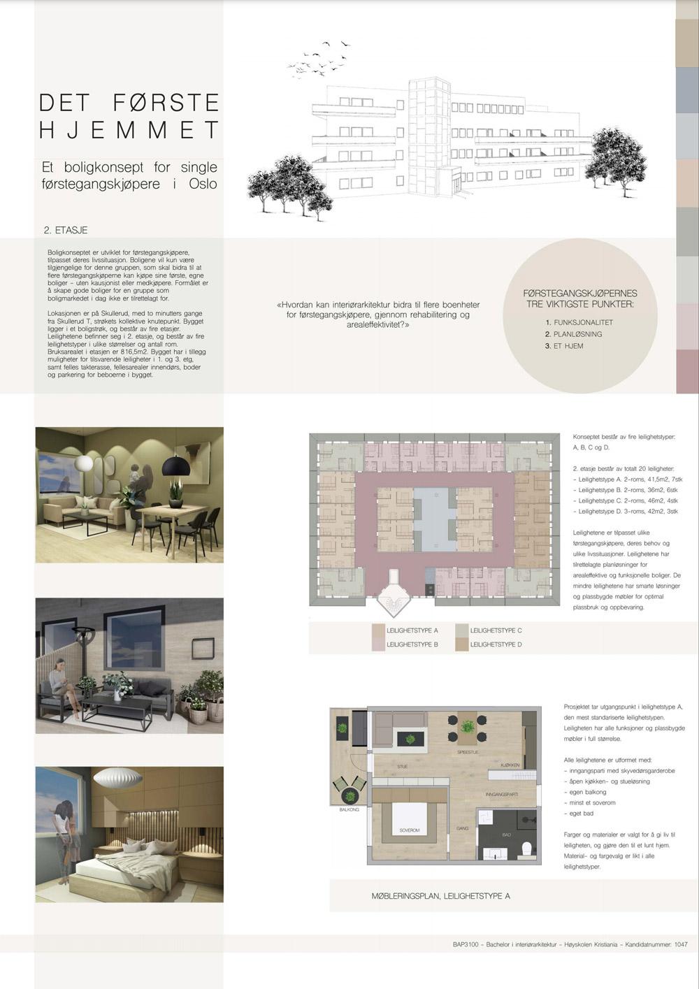Westerdals institutt for kreativitet, fortelling og design - Det første hjemmet - Et boligkonsept for førstegangskjøpere i Oslo