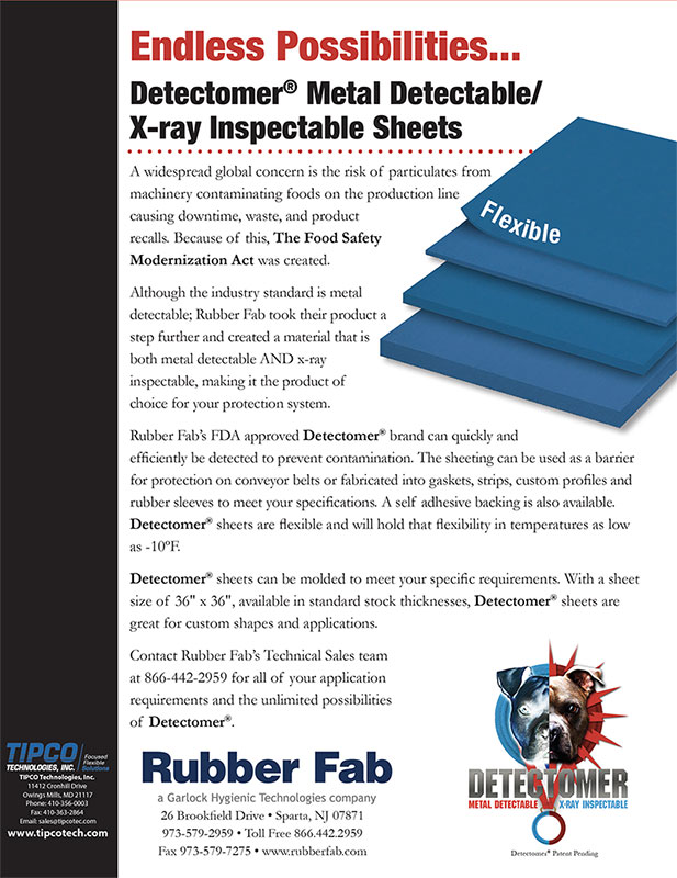 Rubber Fab Detectometer Sheets