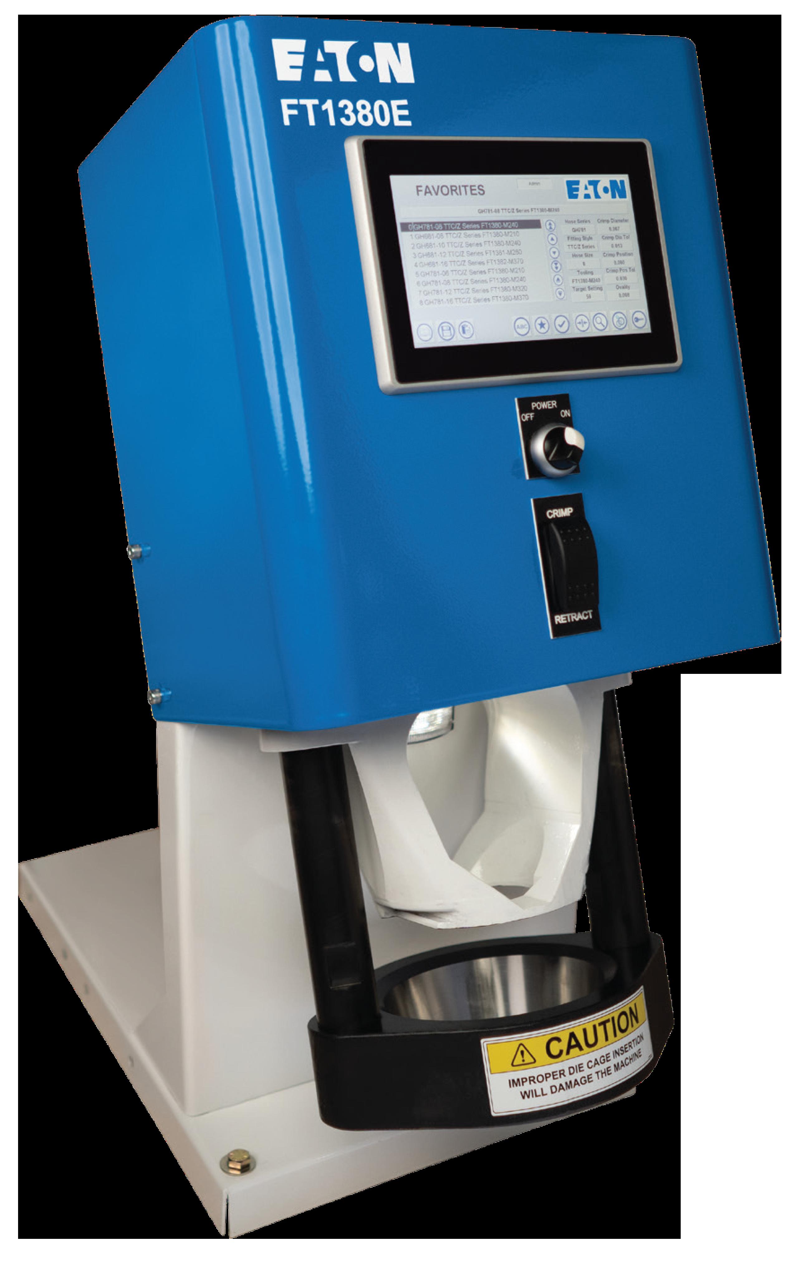 Eaton FT1380e electronic crimp machine