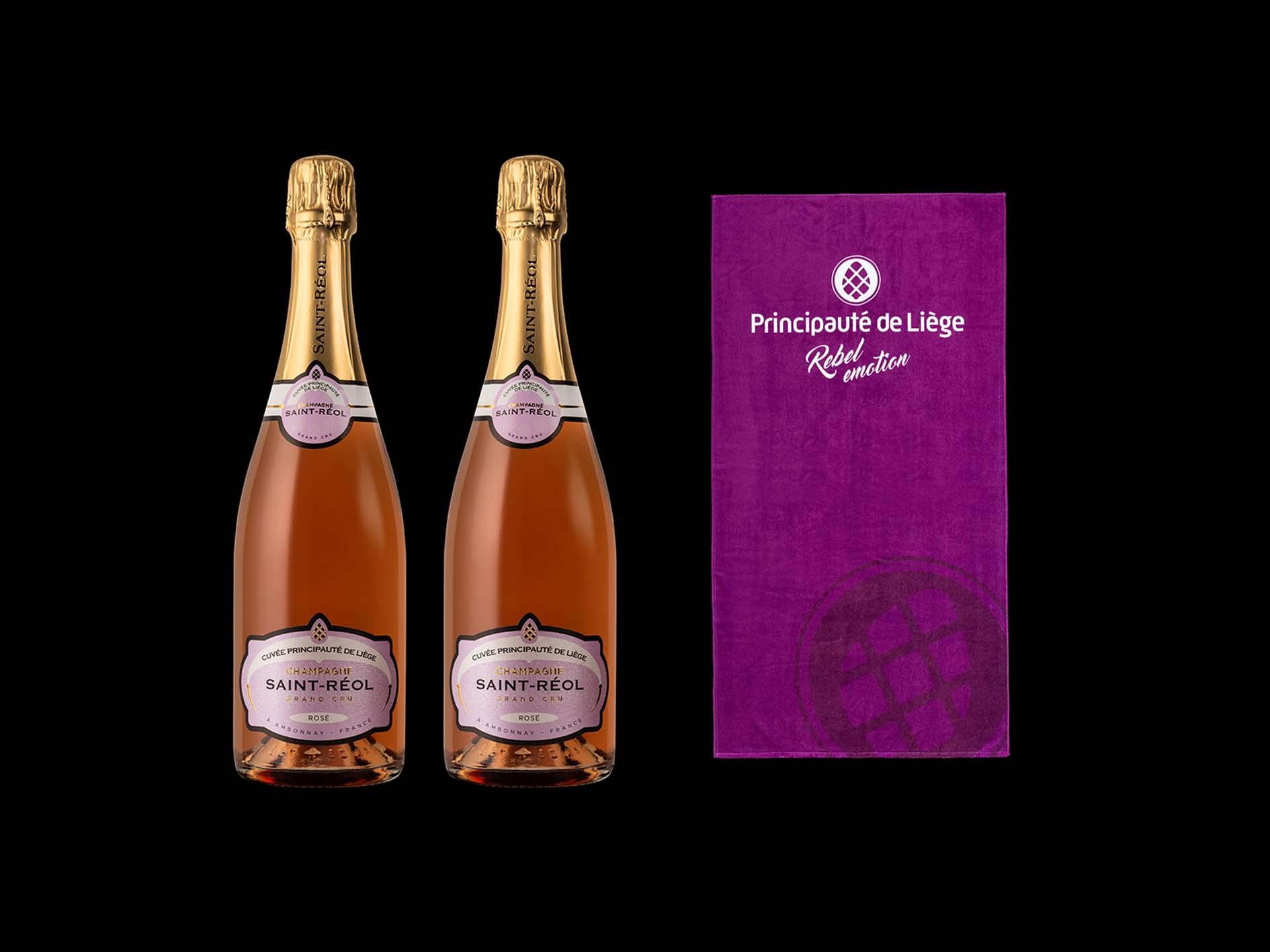 Promo de l'été - Rosé Grand Cru - 2 bouteilles + 1 serviette de bain offerte