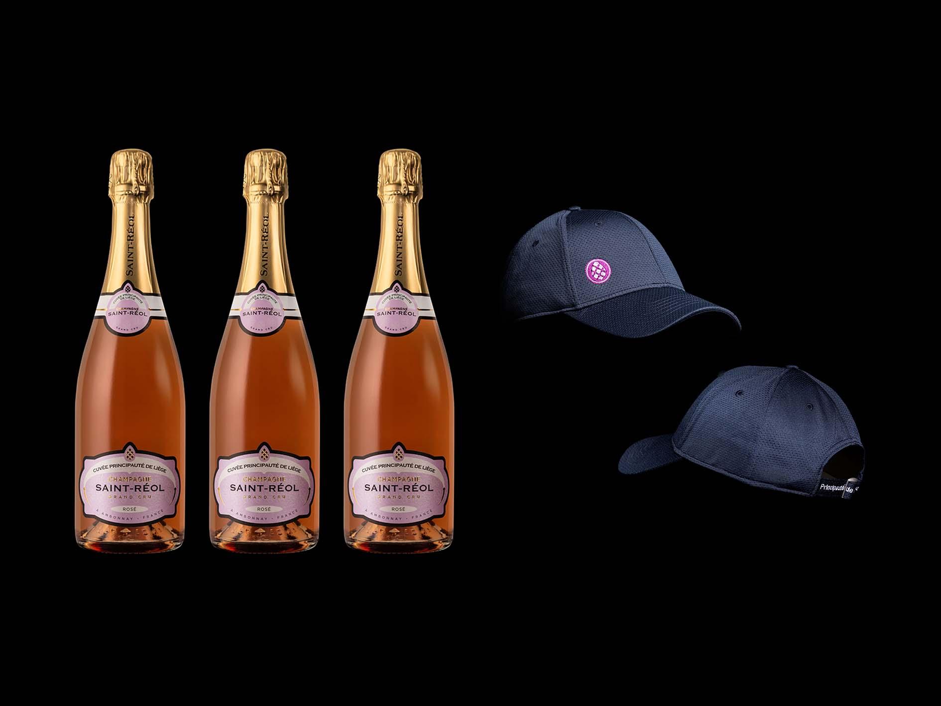 Promo de l'été - Rosé Grand Cru - 3 bouteilles + 1 casquette offerte