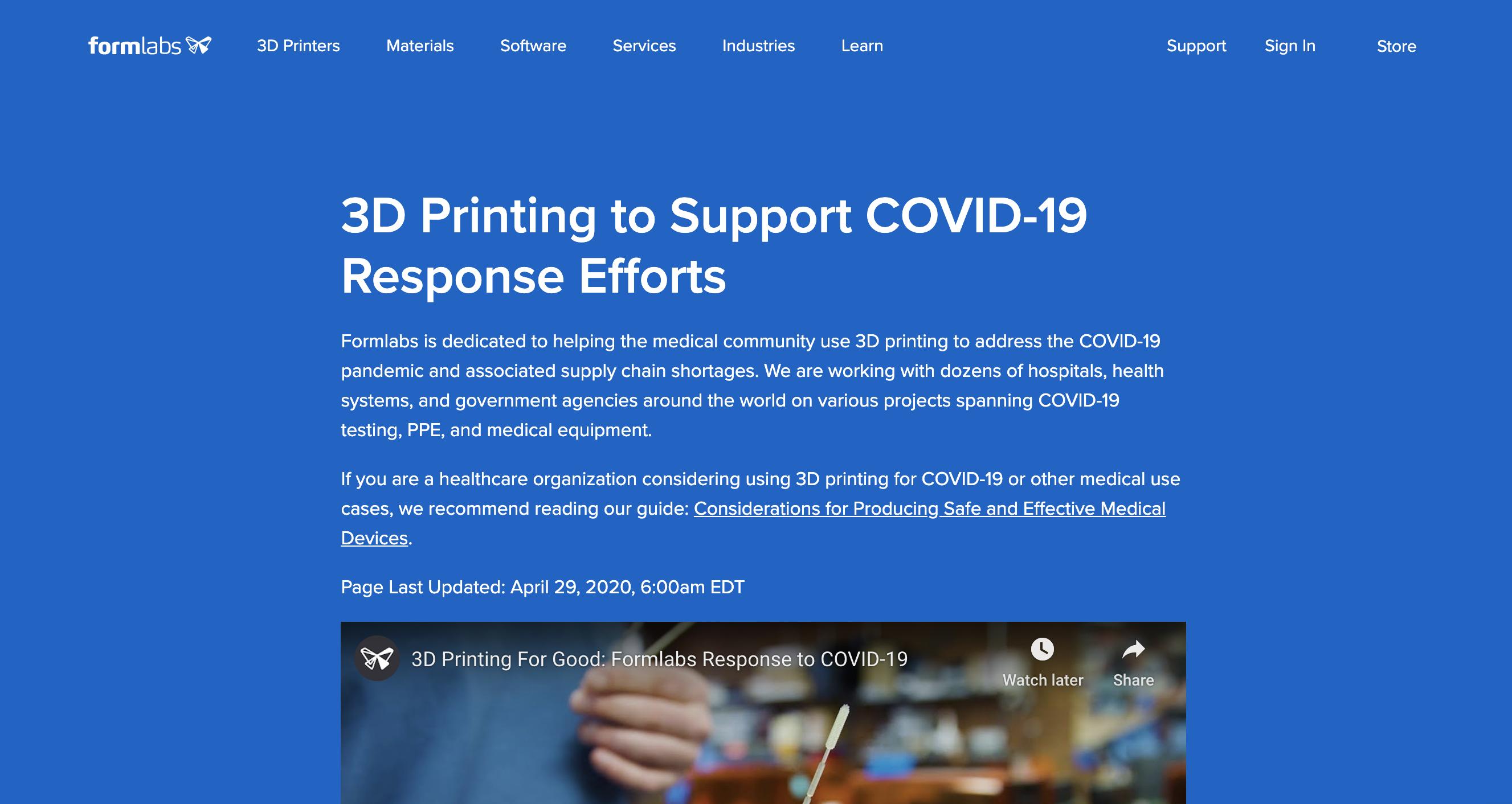 formlabs-covid-response