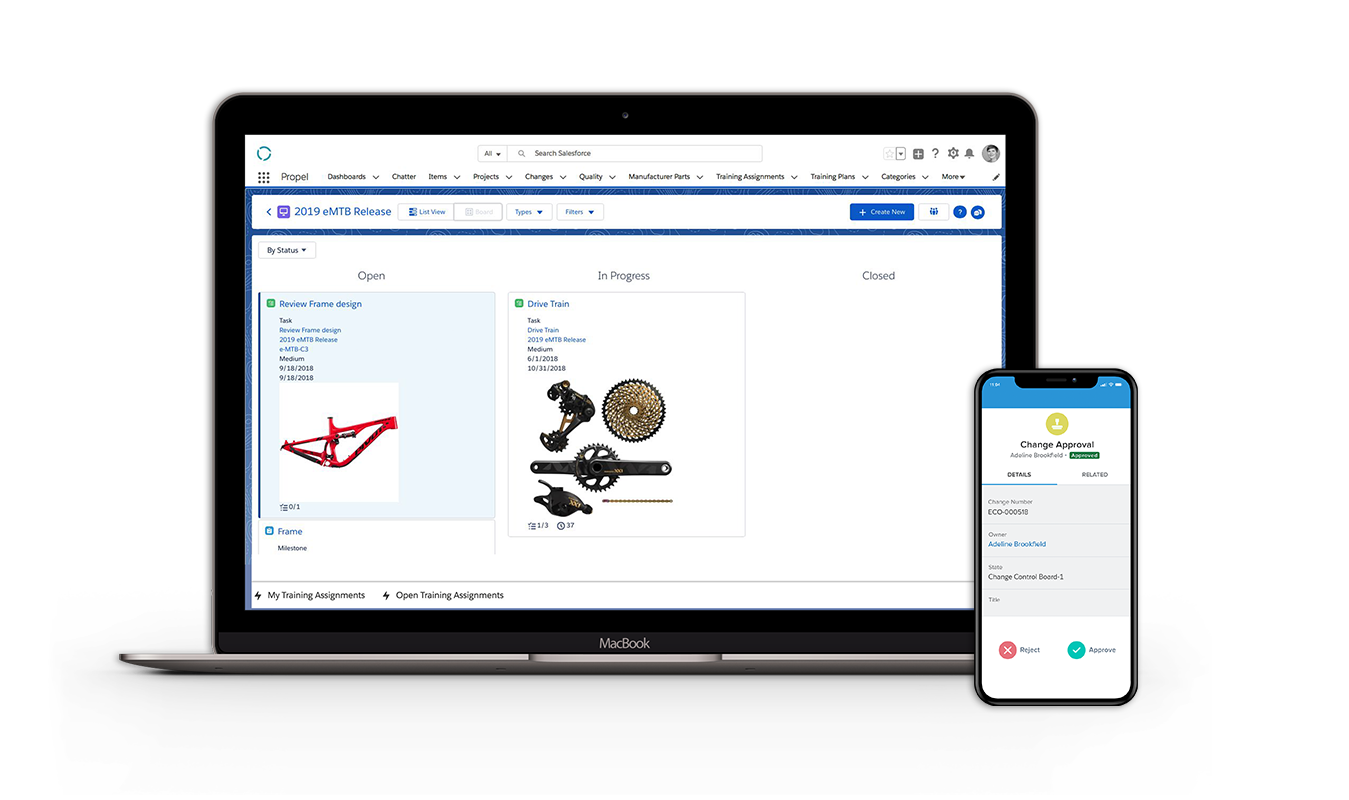 Propel helps engineers, marketing, sales, partners, customers, and everyone in between collaborate on every piece of product information needed to get products from the concept and development stage to the moment the product is in the customer's hands.