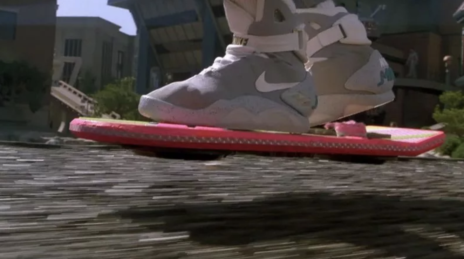 While we don't have actual flying Hoverboards like in the movie (just those dangerous rolling ones with the same name) – that vision isn't too far off from what we have now.