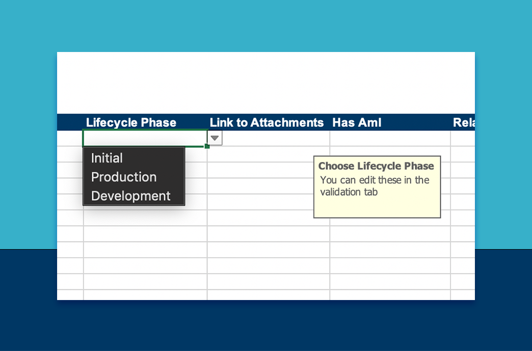 Product Lifecycle Phases in BOM View