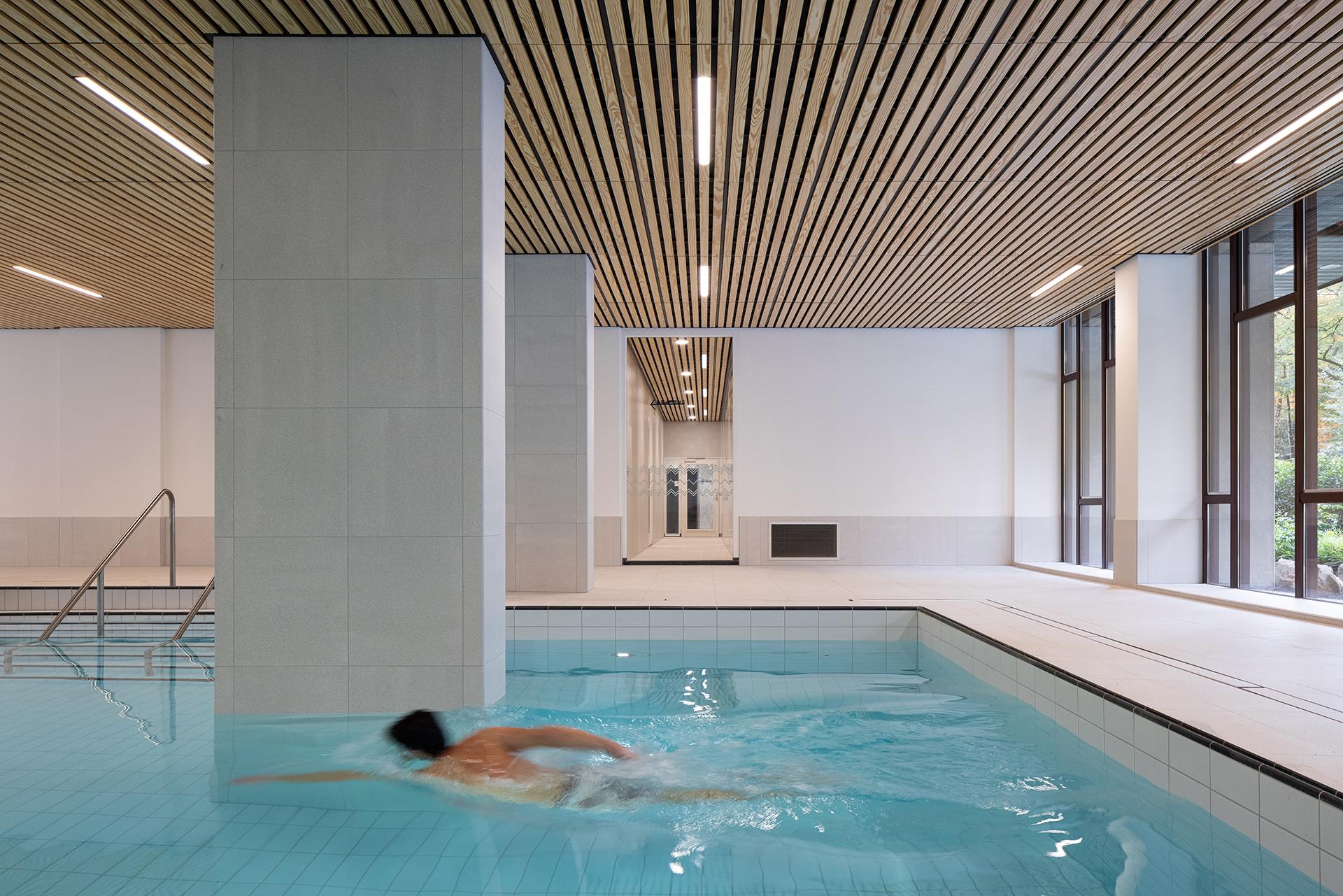 impressie zwembad kerckebosch architect