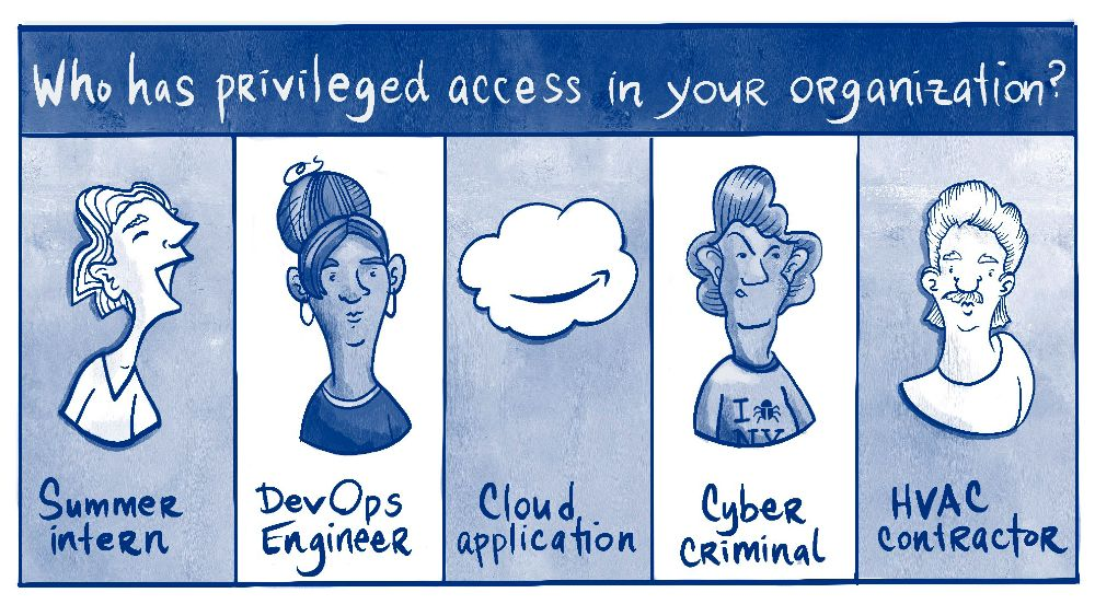 Who has privileged access in your organization? Summer intern, DevOps Engineer, Cloud application, Cyber criminal, HVAC contractor